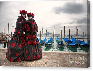 Canvas Print featuring the photograph Venice Carnival Mask by Luciano Mortula