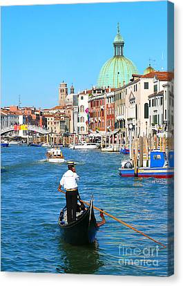 Canvas Print featuring the photograph Venice Cell Phone by Jeanne  Woods