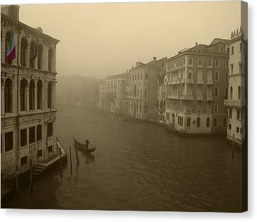 Canvas Print featuring the photograph Venice by David Gleeson