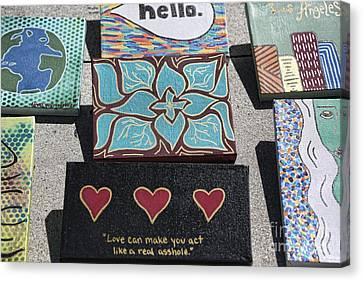 Beach Hop Canvas Print - Venice Gifts by Chuck Kuhn