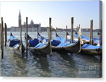 Canvas Print featuring the photograph Venice Gondolas by Rebecca Margraf