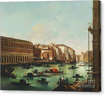 Venice Grand Canal Canvas Print by Pg Reproductions