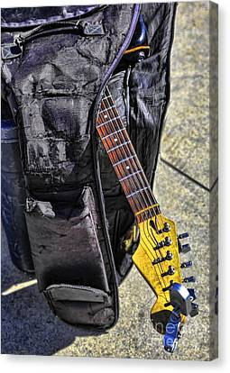 Beach Hop Canvas Print - Venice Guitar I by Chuck Kuhn