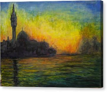 Venice Illuminated Canvas Print