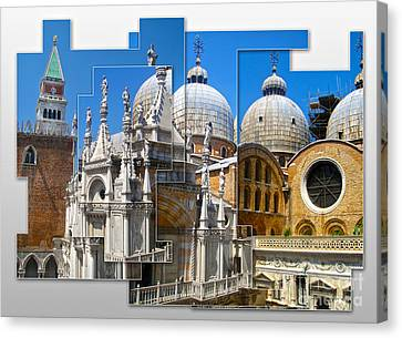 Venice Italy - Cathedral Basilica Of Saint Mark Canvas Print by Gregory Dyer