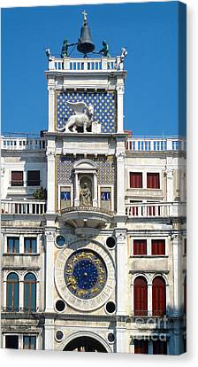 Venice Italy - Clock Tower Canvas Print by Gregory Dyer