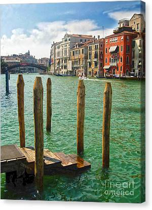 Venice Italy - Grand Canal View Canvas Print by Gregory Dyer