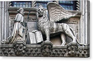 Venice Italy - Porta Della Carta - Paper Gate Canvas Print by Gregory Dyer