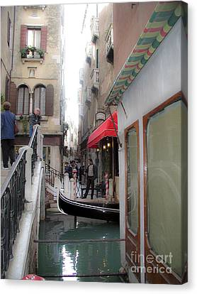 Canvas Print featuring the photograph Venice by Leslie Hunziker