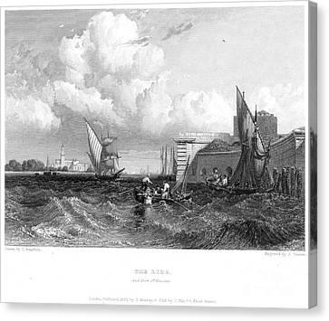 Venice: Lido, 1833 Canvas Print by Granger