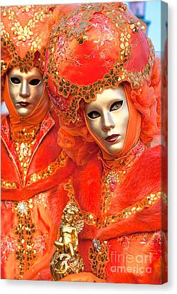 Canvas Print featuring the photograph Venice Masks by Luciano Mortula