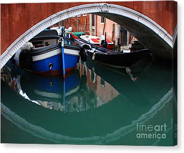 Venice Reflections 2 Canvas Print by Bob Christopher