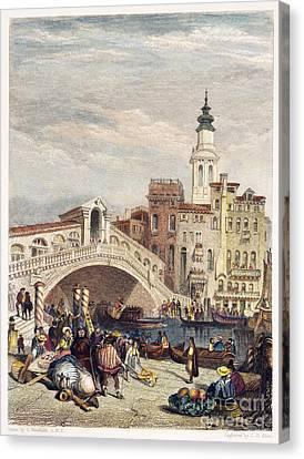 Venice: Rialto, 1833 Canvas Print by Granger