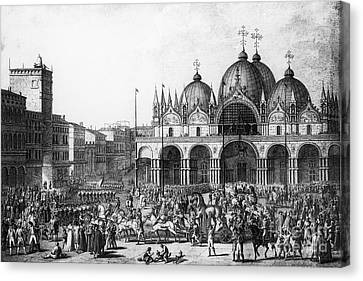 Venice: Saint Marks, 1797 Canvas Print by Granger