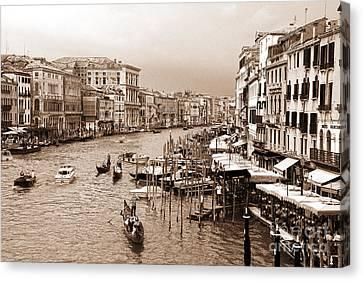 Venice Vintage Canvas Print by Holger Ostwald