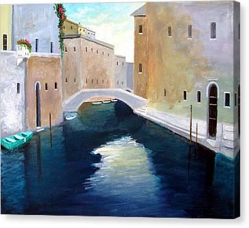 Venice Water Dance  Canvas Print by Larry Cirigliano