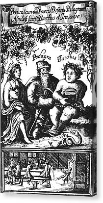 Venus, Podagra And Bacchus, 1687 Canvas Print by Science Source