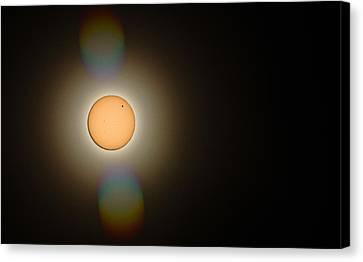 Venus Transit 2012 Canvas Print by Elizabeth Hart