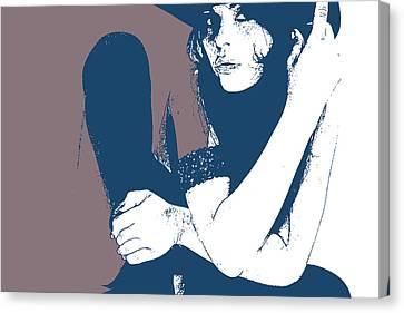 Vera Blue Canvas Print by Naxart Studio
