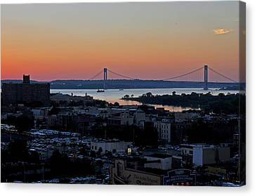Verazano Sunset Canvas Print by Diane Lent