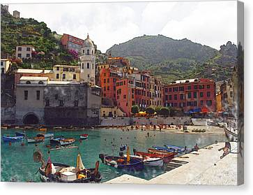 Vernazza Italy Canvas Print by Brandon Bourdages