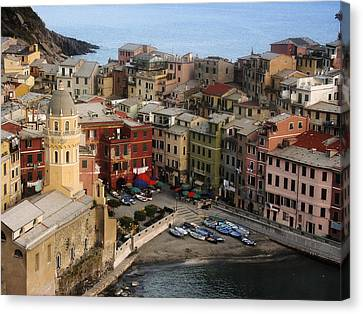 Vernazza View Canvas Print by Andrew Soundarajan