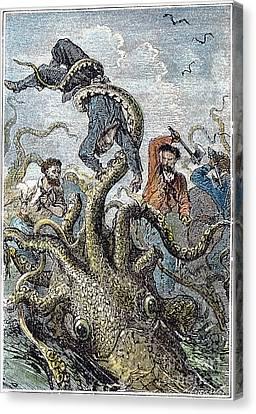 Verne: 20,000 Leagues, 1870 Canvas Print by Granger