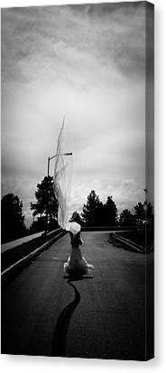 Vertical Cloth Wind  Canvas Print by Scott Sawyer