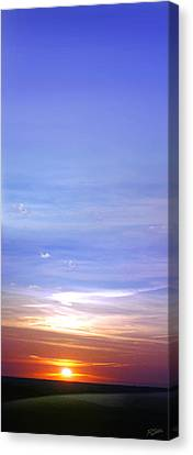 Canvas Print featuring the photograph Vertical Sunset by Rod Seel