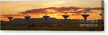 Very Large Array At Sunset Canvas Print by Matt Tilghman