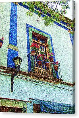 Canvas Print featuring the digital art Vg Guanajuato by John  Kolenberg