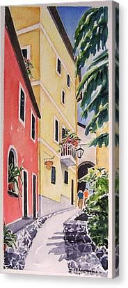 Via G. Matteoti Canvas Print by Regina Ammerman