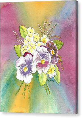 Vibrant Panseys Canvas Print