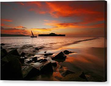 Vibrant Sunset Canvas Print by Sydney Alvares