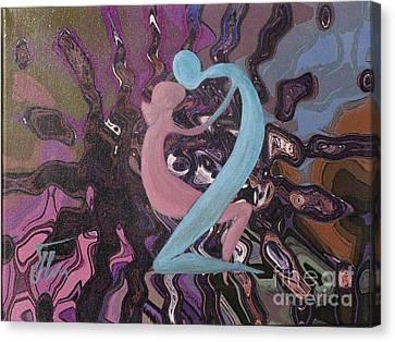Vibrations-mixed Media Canvas Print by Ketti Peeva
