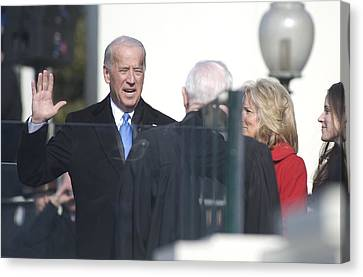 Vice President Joe Biden Takes The Oath Canvas Print