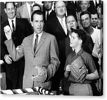 Vice President Nixon Officially Opens Canvas Print by Everett