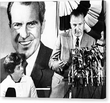 Vice Presidential Candidate Spiro Agnew Canvas Print by Everett
