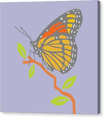 Viceroy Butterfly Canvas Print by Mary Ogle