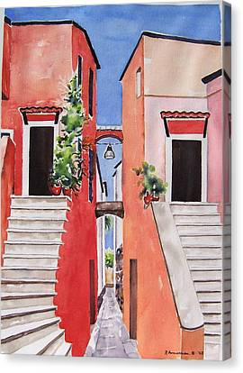 Vico Giardini Canvas Print by Regina Ammerman