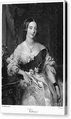 Decolletage Canvas Print - Victoria (1819-1901) by Granger