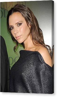 Victoria Beckham At In-store Appearance Canvas Print by Everett