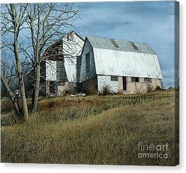 Victoria County Road Barn Canvas Print