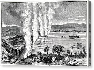Victoria Falls, 19th Century Canvas Print by Cci Archives