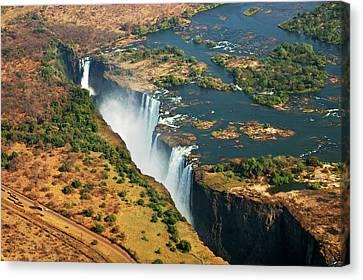 Victoria Falls, Zambia Canvas Print by © Pascal Boegli