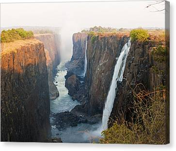 Victoria Falls, Zambia, Southern Africa Canvas Print by Peter Adams