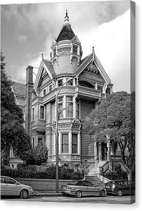 Victorian Haas Lilienthal House In San Francisco Canvas Print by Daniel Hagerman