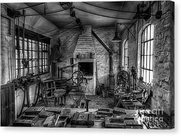 Victorian Locksmith's Workshop Canvas Print by Adrian Evans