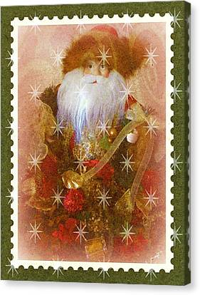 Canvas Print featuring the photograph Victorian Santa by Michelle Frizzell-Thompson