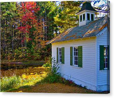 Victorian Shed In Fall 5 Canvas Print